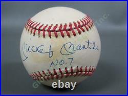 Signed Mickey Mantle #7 New York Yankees Autograph Baseball UDA Upper Deck COA