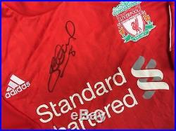Signed Steven Gerrard Liverpool 11/12 Shirt