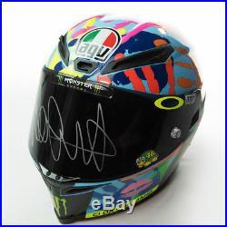 Signed Valentino Rossi Misano 2014 Helmet Yamaha MotoGP
