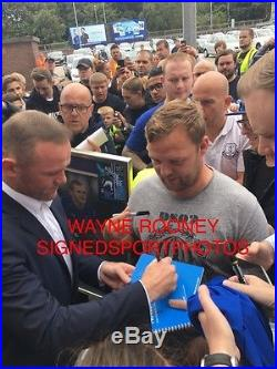 Signed Wayne Rooney Everton 17/18 Home Shirt Hand Signed With Proof & Coa