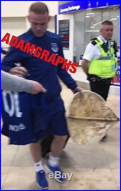 Signed Wayne Rooney Everton Shirt 17/18 Proof See Him Sign
