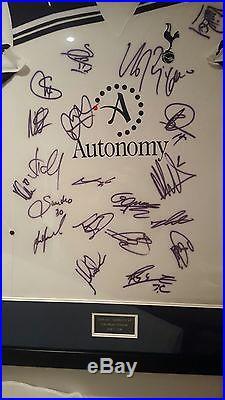 Signed and framed Tottenham Hotspur 2010 2011 shirt