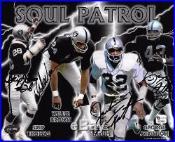 Soul Patrol Signed Raider 8x10 Photo PSA/DNA Jack Tatum Willie Brown Skip Thomas