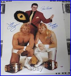 Stan Lane Bobby Eaton J Cornette Signed 16x20 Photo PSA/DNA WWE Midnight Express
