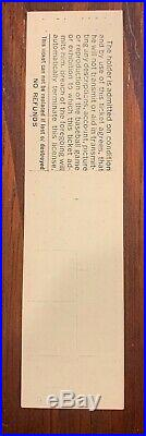 Stan the Man Musial Last Game Full Ticket Signed