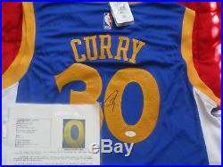 ba3c65bce Stephen Curry  30 Signed Golden State Warriors Jersey Autograph Sz XL JSA  LOA NR