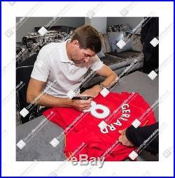 Steven Gerrard Signed Liverpool Shirt #8 Home, 2016/2017 Autograph Jersey