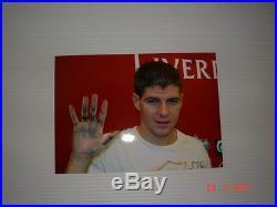 Steven Gerrard signed original Ink hand print