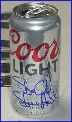 Stone Cold Steve Austin Signed Coors Light Empty Beer Can BAS COA WWE Autograph
