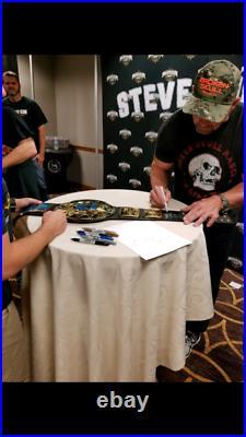 Stone Cold Steve Austin Signed WWE Adult Attitude Era Title Belt COA/Hol/PIC WWF