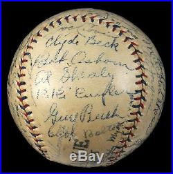 Stunning Babe Ruth Lou Gehrig Walter Johnson 1920's HOF Signed Baseball PSA JSA