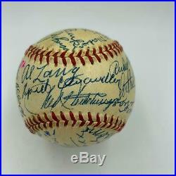 Stunning Jimmie Foxx Paul Waner Dazzy Vance Fred Merkle HOF Signed Baseball PSA