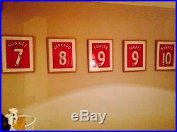 Suarez, Gerrard, Fowler, Torres, Barnes. Signed Liverpool Shirts 2010 Coa