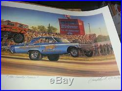 Sunday Funnies NHRA TF FC Arnie Beswick Tempest Mr Norms Coronet Both Signed