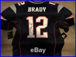 TOM BRADY PATRIOTS TRISTAR Signed NWT NIKE Home Jersey with PERFECT AUTO GOAT