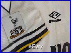 TOTTENHAM HOTSPURS signed framed shirt 1994 1995 Jürgen Klinsmann Sheringham etc