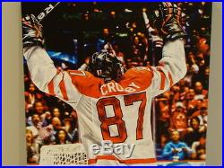 Team Canada 2010 Sidney Crosby Signed Winter Olympics 14x28 Canvas Hockey Gold