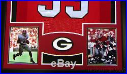 Terrell Davis Framed Jersey Signed JSA COA Autographed Georgia Bulldogs Denve