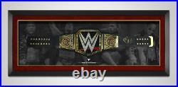 The Rock Dwayne Johnson Signed & FRAMED WWE Belt Exact Proof AFTAL COA