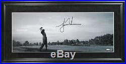 Tiger Woods Signed Autographed Black And White Photo Panoramic Uda Gorgeous