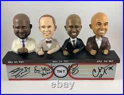 Tnt Shaquille O'Neal Charles Barkley Kenny Ernie Signed Autographed Bobblehead