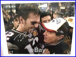 Tom Brady +Bill Belichick Signed 11x14 Framed Photo PSA+LOA New England Patriots
