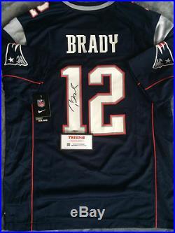 Tom Brady Blue Signed Patriots NFL On Field Jersey (TriStar COA)