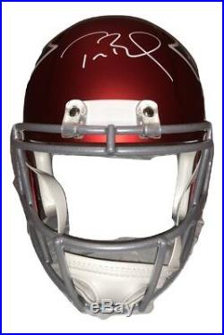 Tom Brady New England Patriots Signed Autographed Full Size BLAZE Helmet TRISTAR