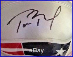 Tom Brady New England Patriots signed autographed Mini Helmet