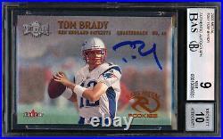 Tom Brady Signed 2000 Fleer Metal Rookie Card BGS 9 Gem 10 Auto 13060324