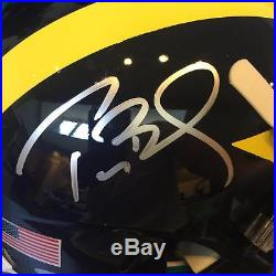 Tom Brady Signed Michigan Wolverines Full Size Schutt Helmet Tristar COA