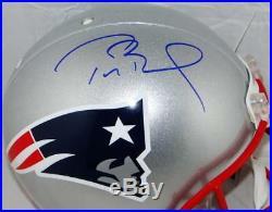 Tom Brady Signed New England Patriots F/S Authentic Helmet- TriStar Auth Blue