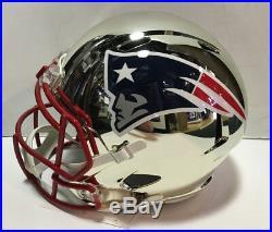 Tom Brady Signed Patriots FS Chrome helmet autograph Steiner tristar COA SB MVP
