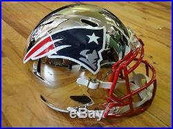 Tom Brady Signed Tristar Steiner Authentic Chrome Full Patriots Helmet Autograph