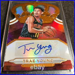 Trae Young 2018-19 Panini Crown Royale Autograph Signed Rookie 142/149 Auto RC