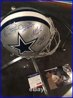 Troy Aikman Michael Irvin Emmit Smith Signed Autograph Insc F/s Authentic Helmet