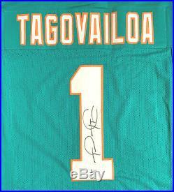 Tua Tagovailoa Autographed Teal Jersey Signed Beckett BAS
