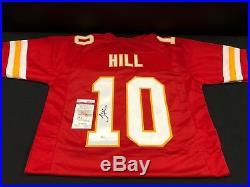 Tyreek Hill Kansas City Chiefs Signed Custom Jersey Jsa Witness Coa Wp827597