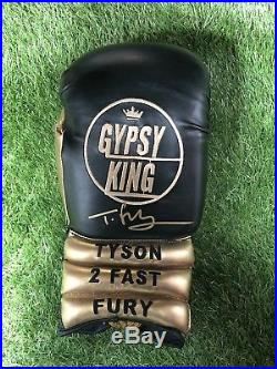 Tyson Fury Hand Signed Boxing Glove with Display Case RARE GYPSY KING DESIGN COA