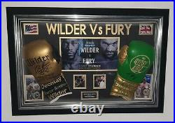 Tyson Fury and Deontay Wilder SIGNED BOXING GLOVE Autographed DOME Display