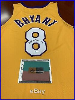 UDA Kobe Bryant Signed Nike Los Angeles Lakers #8 Gold Game Jersey NEW