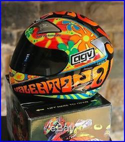 Ultra rare signed Valentino Rossi Limited edition AGV Valencia helmet 46 of 500