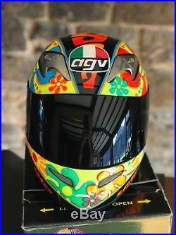 Ultra rare signed Valentino Rossi Limited edition AGV Valencia helmet 46 of  500 27e97a2c648d