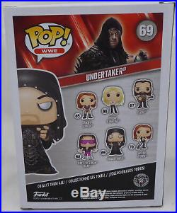 Undertaker Autographed Signed Wwe Funko Pop Vinyl Figurine Psa/dna Itp 162970