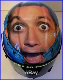 Valentino Rossi Hand Signed Agv Replica Helmet Mugello 2008 Yamaha Motogp