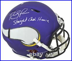 Vikings Randy Moss Straight Cash Homie Signed Proline F/S Speed Helmet BAS