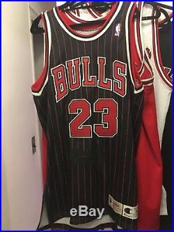 Vintage Michael Jordan Chicago Bulls Pro Cut Signed Jersey 46