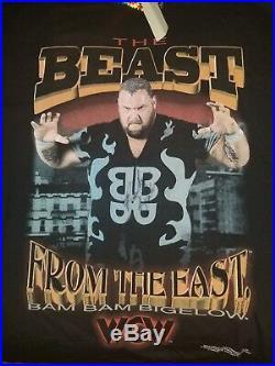 Vintage WCW Signed Bam Bam Bigelow Size XXL RARE Ecw 90s WWF WWE Nwa Ajpw Njpw
