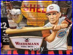 Vintage Wiedemann Beer Cincinnati Reds Player Sign 3-D Vaccuform RARE RARE RARE