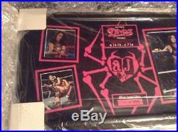 WWE Divas Champion Aj Lee Autograph Plaque Rare HoF Signed 102/295 Aew Njpw X